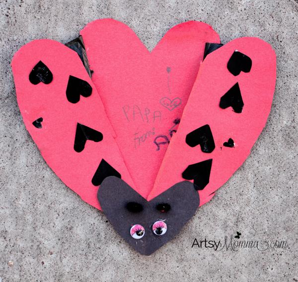 Heart-shaped Ladybug Card