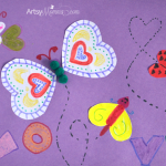 Heart-shaped Love Bugs Craft for Valentine's Day