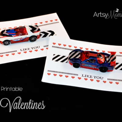 Free Printable: I Wheelie Like You Car Valentine