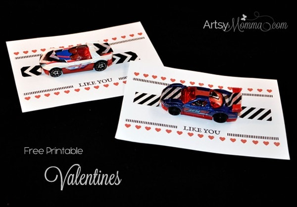 I Wheelie Like You Car Valentines - Printable Cards