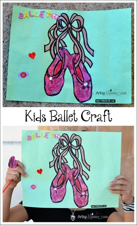 Kids Ballet Shoes Craft