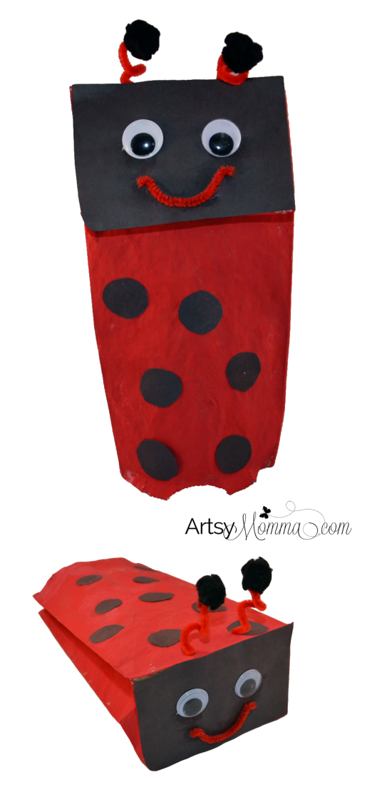Ladybug Craft: Make a Paper Bag Puppet