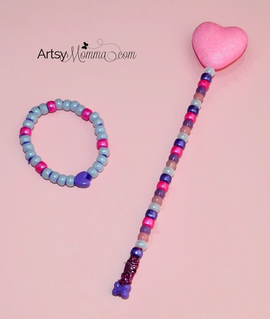 Magical Heart Wand and Bracelet Craft for Kids