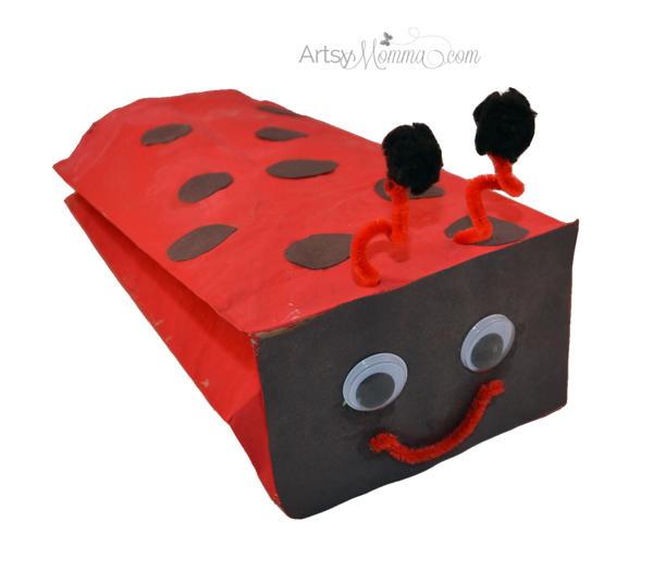Paper Bag Ladybug Craft for Kids