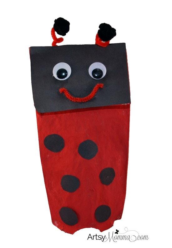 Paper Bag Ladybug Puppet