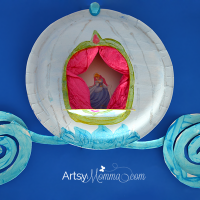 Paper Plate Craft: Make Cinderella's Carriage!