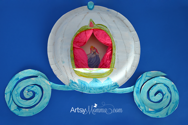 cinderella games for preschoolers paper plate craft make cinderella s carriage artsy momma 517