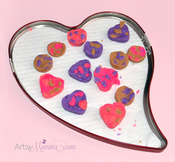 Pretend Play Playdough Chocolates - Valentine's Day Activity