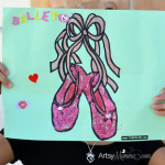 Sparkly Ballet Craft for Preschoolers