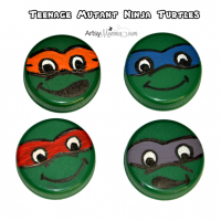 Bottle Cap Craft: Teenage Mutant Ninja Turtles