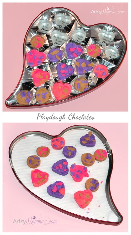 Valentine's Day Activity for Kids: Playdough Chocolates