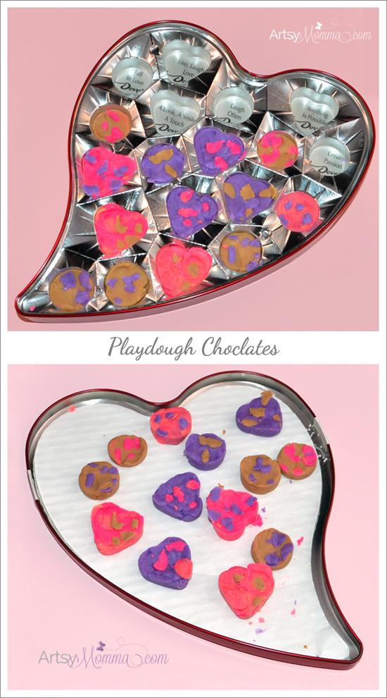 Valentine's Day Activity for Kids: Playdough Chocolates