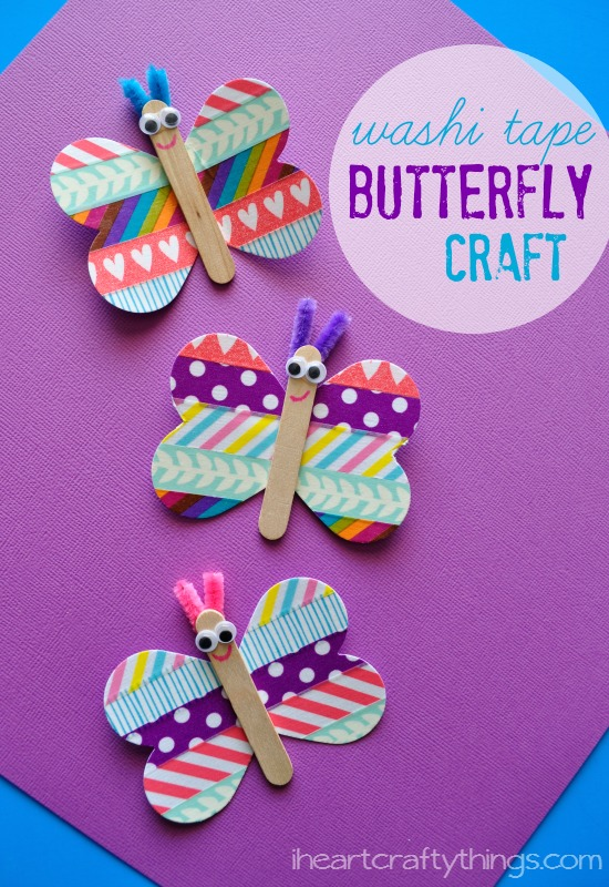 Butterfly washi tape craft artsy momma for Crafts with washi tape
