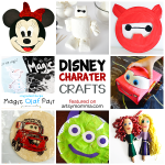 Disney Character Crafts made with items found in the kitchen
