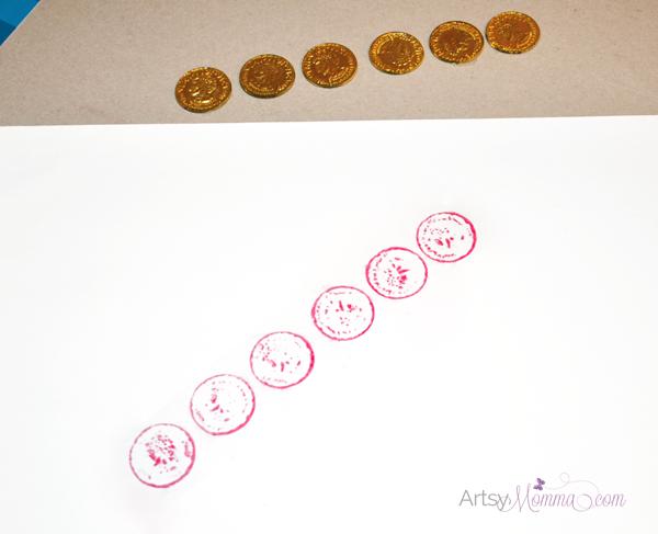 Gold Coin Crayon Rubbings