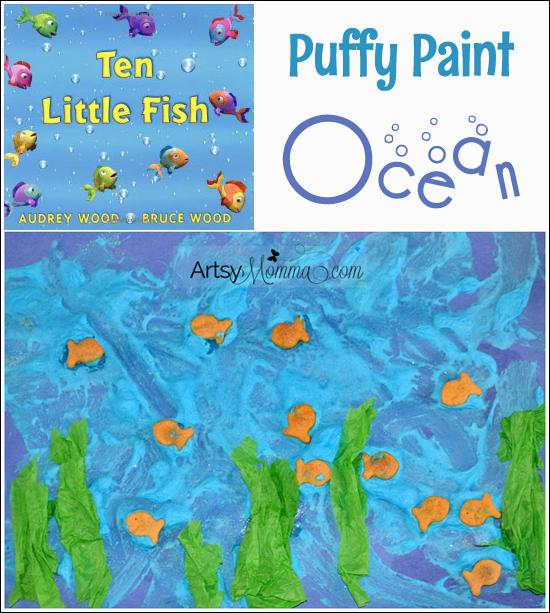Kids Collage Art: Puffy Paint Ocean