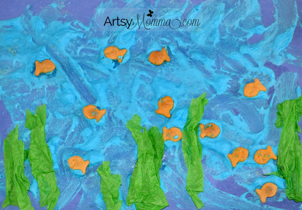 Puffy Paint Ocean Craft for Kids