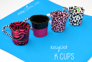 Recycled K Cups into Teacups