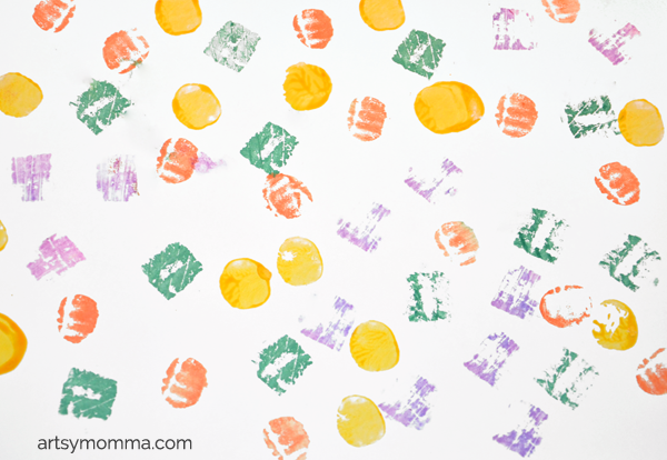 Stamping with Vegetables