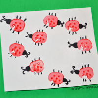 Vegetable Stamping Craft: Carrot Bugs