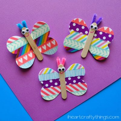 Butterfly Washi Tape Craft for Kids