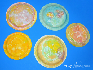 Water Glue Resist Painting | Paper Plate Craft for Kids