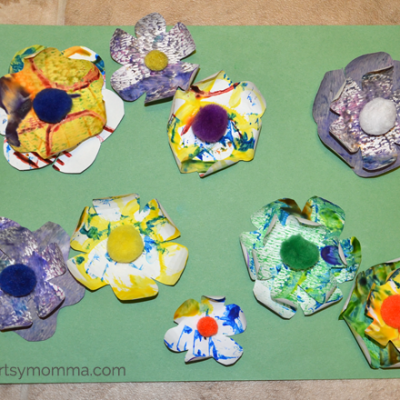 3D Flower Art for Preschoolers