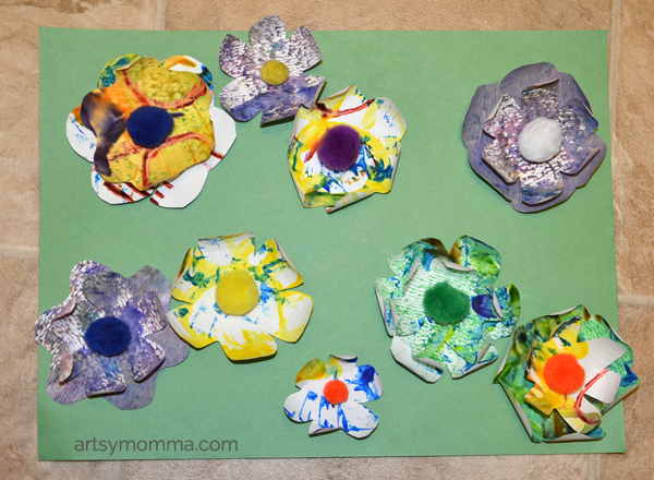 3D Flower Art for Preschoolers
