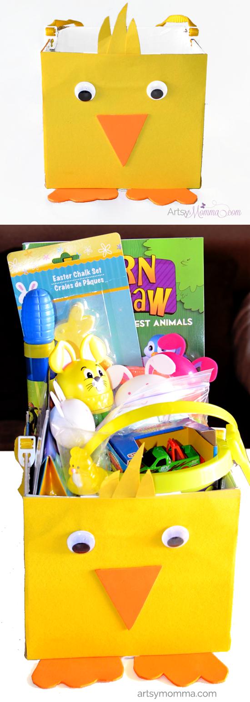 Chick Easter Basket Craft for Kids