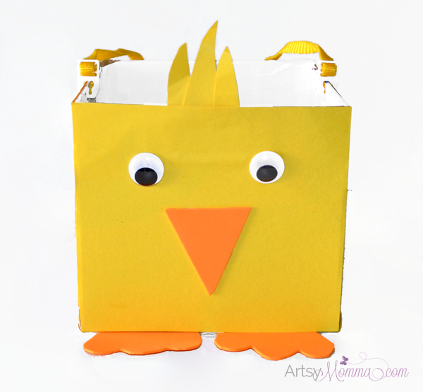 DIY Easter Basket: Chick Craft for Kids