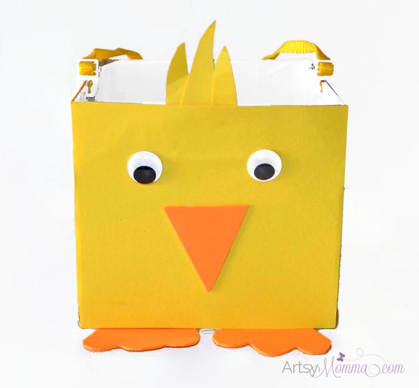 Diy Easter Basket Chick Craft For Kids Artsy Momma