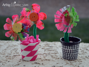 Egg Carton Flowers - Recycled Craft using coffee pods