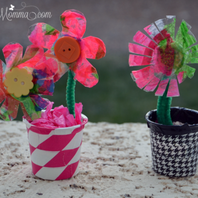 K Cup Craft: Egg Carton Flowers in a Vase