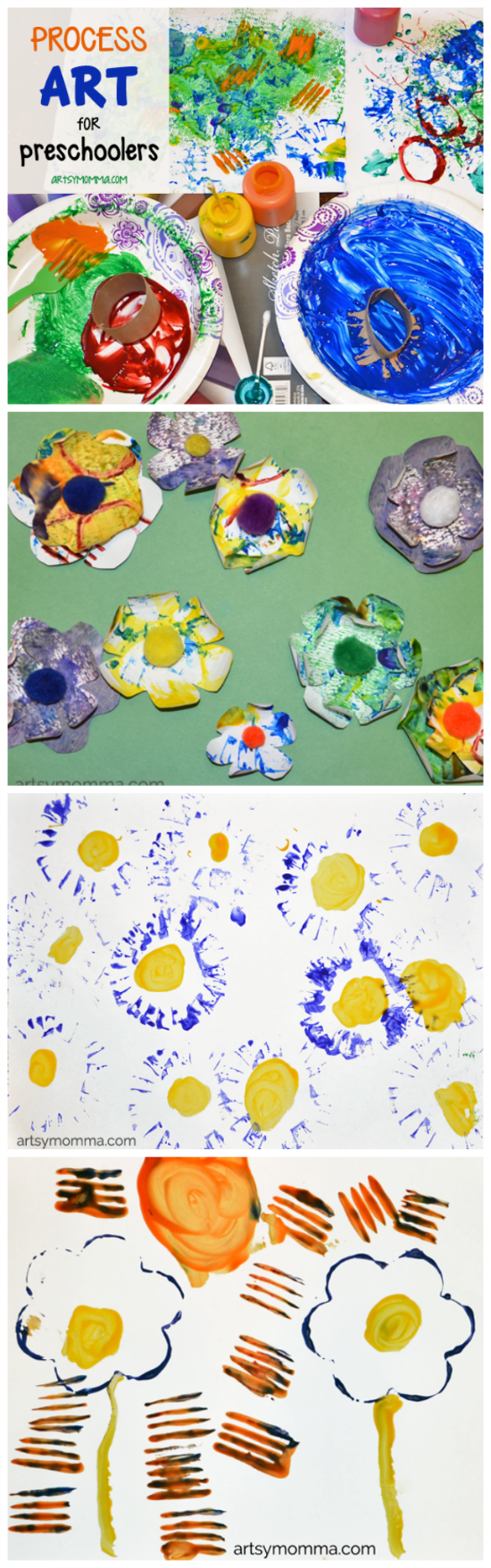 Flower Theme for Preschoolers - Process Art