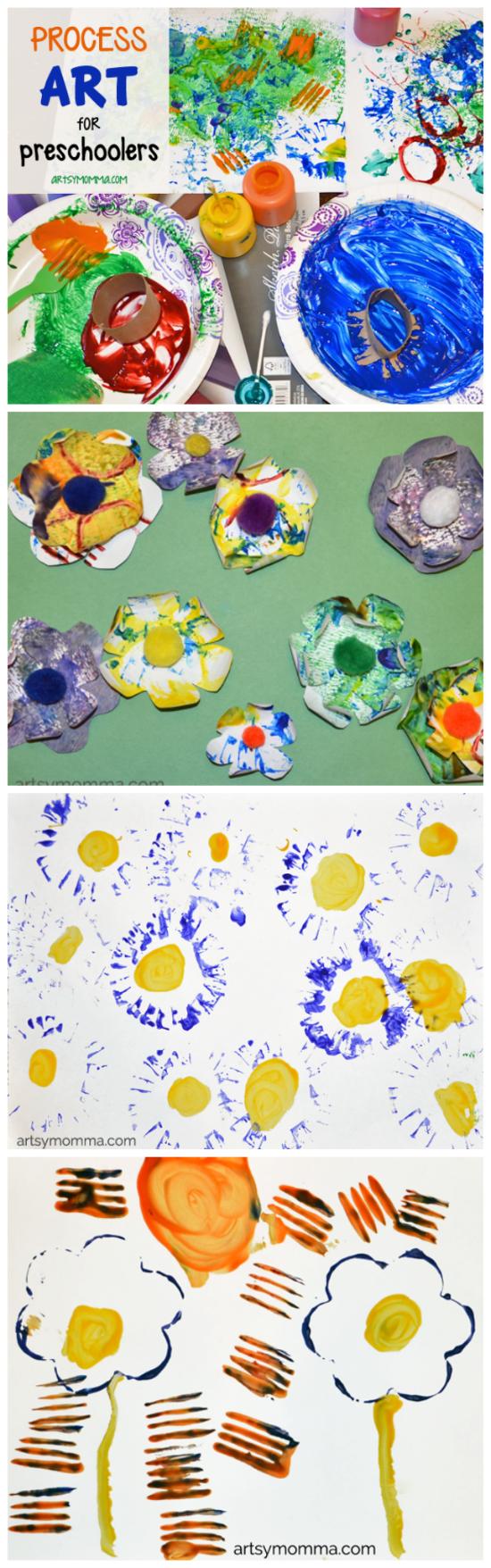 Flower Theme for Preschoolers - Process Art