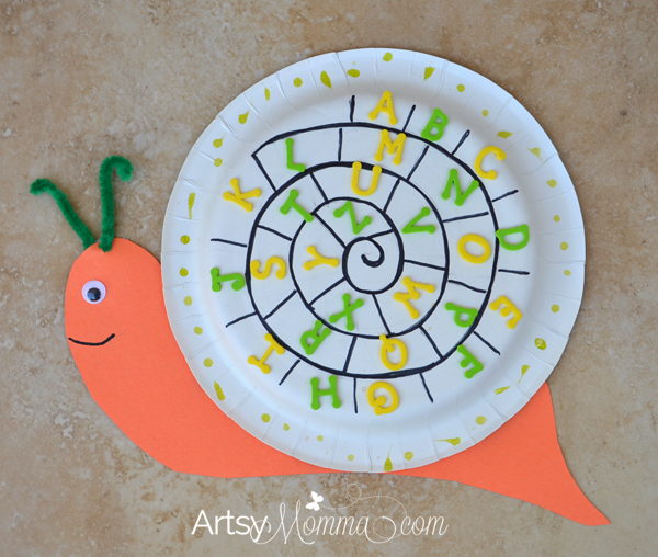 Paper Plate Snail Craft | Alphabet Activity for Preschoolers