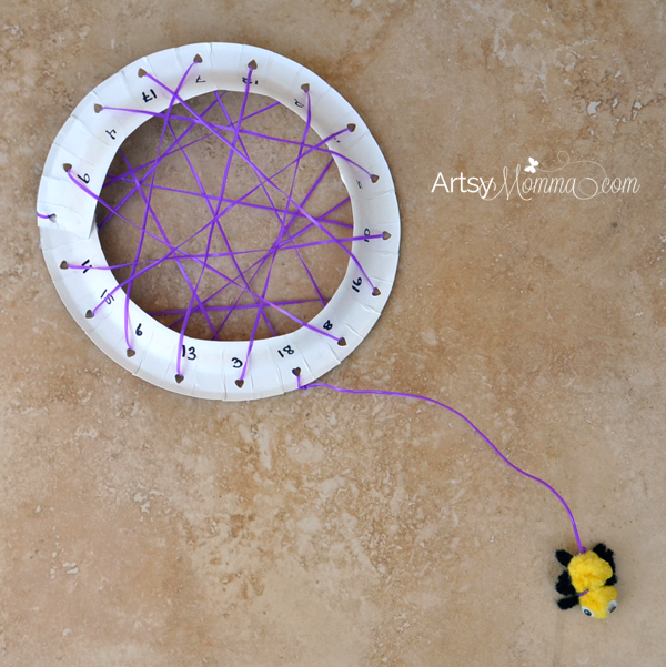 Paper Plate Spiderweb Number Craft And Lacing Activity For Preschoolers