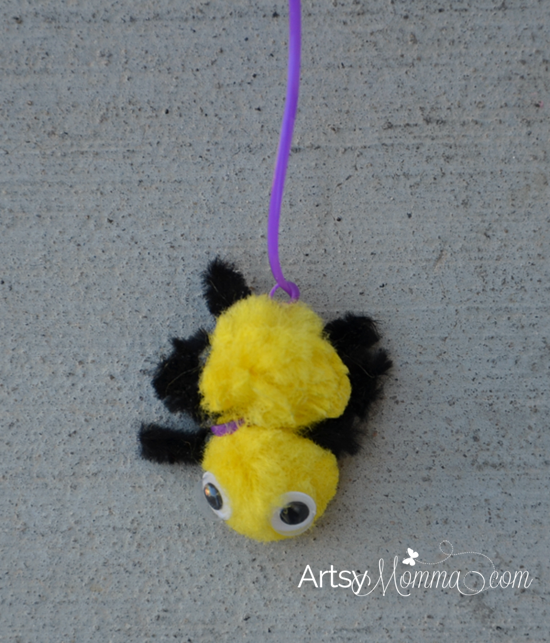 Pom Pom Spider Craft for Preschoolers