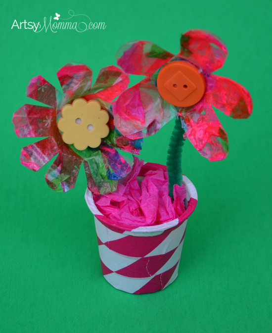 Recycled K Cup Craft: Egg Carton Flowers