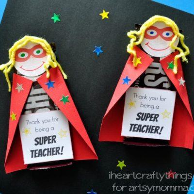 DIY Teacher Appreciation Gift: Superhero Candy Bar Printable