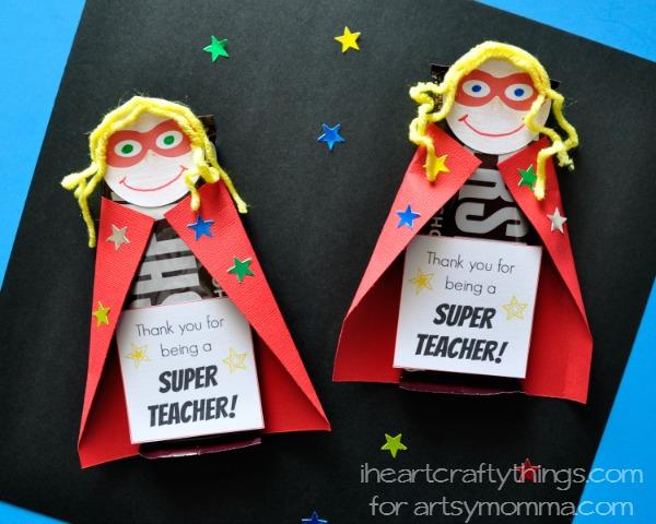 Printable Superhero DIY Teacher Appreciation Gift