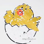 Torn Paper Craft: Hatching Chick