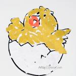 Torn Paper Craft: Hatching Chick