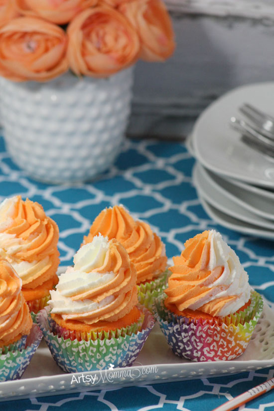 Yummy Orange Dreamsicle Cupcakes