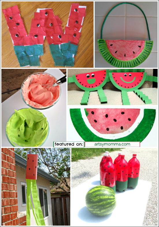 watermelon paper crafts for kids The perfect summer craft for kids to make are these puffy paint watermelons they are easy and fun to make :) i always love art projects that involve puffy paint because the texture is awesome when they dry.