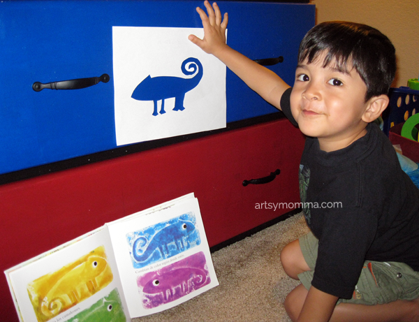 A Color of His Own Stencil Chameleon Activity