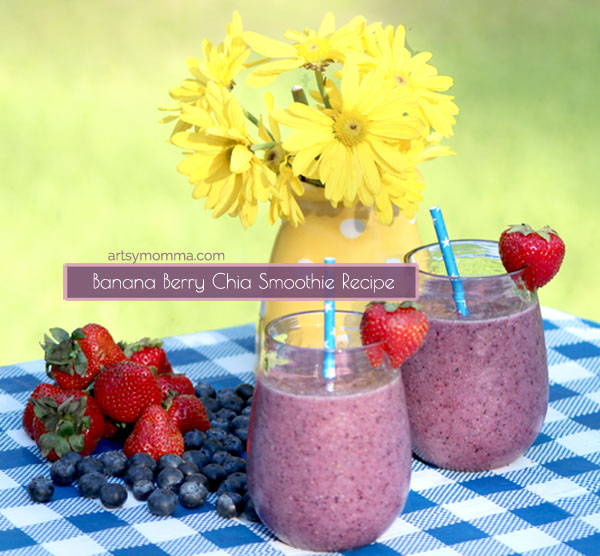 Healthy Smoothie Recipe with Chia and Fruit