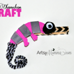 Clothespin Chameleon Craft for Kids