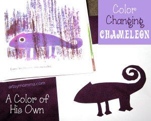 Color Changing Chameleon Craft for Kids
