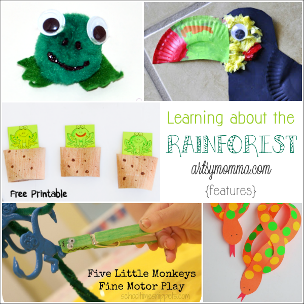 forest preschool theme preschool activities rainforest theme artsy momma 802